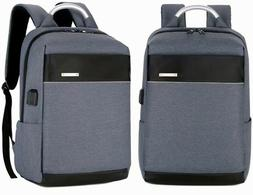 Men/Womens Laptop Notebook Backpack+USB Charging Business Sc
