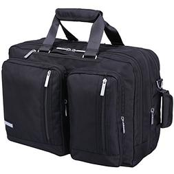 Ronts Mens Briefcase 3 in 1 Backpack Waterproof Nylon Conver