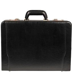 Wilsons Leather Mens Computer Friendly Leather Attache Black