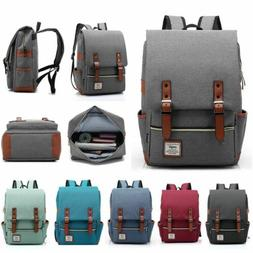 mens girls canvas backpack school laptop travel