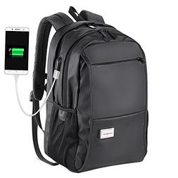 Mens School Backpack College Laptop Backpack with USB Chargi