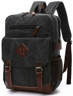 Kenox Mens Large Gray Canvas Backpack School Laptop Bag Hiki