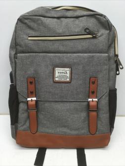 Kenox Mens Large Vintage Canvas Backpack School/Laptop Bag R