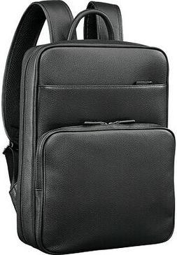 Samsonite Mens Leather Classic Slim Laptop Backpack Casual T