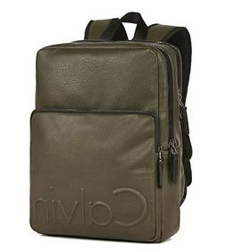 Calvin Klein Mens Tech Square Dual Zip Backpack Travel Lapto