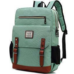 Kenox Mens Large Vintage Canvas Backpack School Laptop Bag H