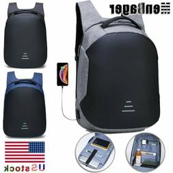 Mens Waterproof 15.6 Laptop Backpack Anti Theft Travel Schoo