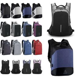 Mens Womens Anti-Theft Backpack Rucksack Travel Satchel Scho