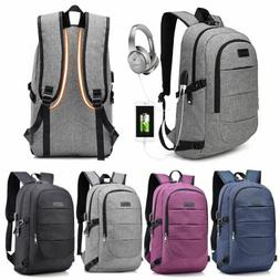 Mens Womens Laptop Backpack Business Travel USB Charging Por