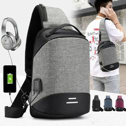 mens womens usb charging anti theft backpack