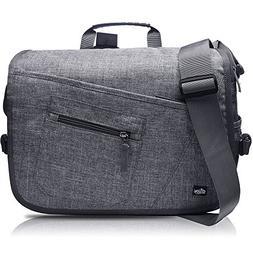 """Qipi Messenger Bag - Shoulder Bag for Men & Women, 15"""" Lapto"""