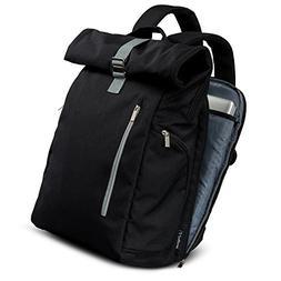 MI6 Anti theft Travel Laptop Backpack Minimalist Rolltop Des