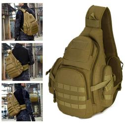 Tactical Military Sling Chest Pack 14inch Laptop Backpack Cr