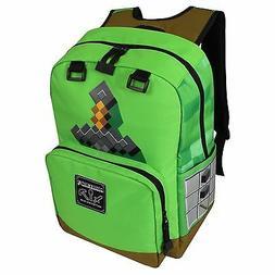 JINX Minecraft Sword Adventure Kids Backpack  for School, Ca