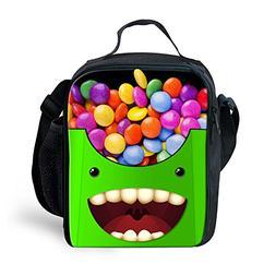 Ledback Monster Food Lunch Bag for School Children Portable