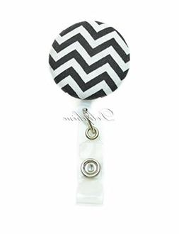 Multi - Colors Fabric Badge Reel Retractable ID Badge Holder