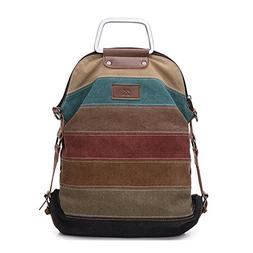La Desire Multi-Function Convertible Canvas Shoulder Bag Cro