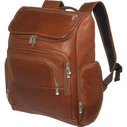 Multi-Pocket Laptop Backpack - Saddle
