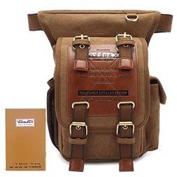 KAUKKO Fashion Multifunction Canvas Crossbody Bag Outdoor Wa