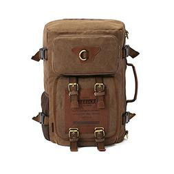 KAUKKO Multifunctional Canvas Backpack Rucksack Portable bac