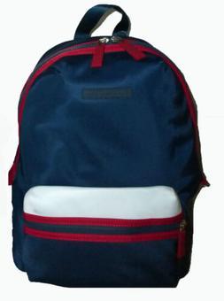 b85d2250fd8a Tommy Hilfiger Navy Red Polyester Men Women Travel Backpack