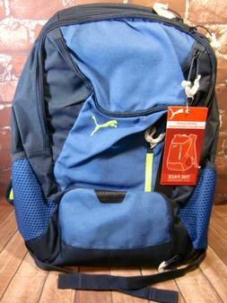New Puma 19 inch The Pace Backpack - Blue & Lime with Laptop