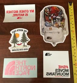 New 5 large The North Face Stickers