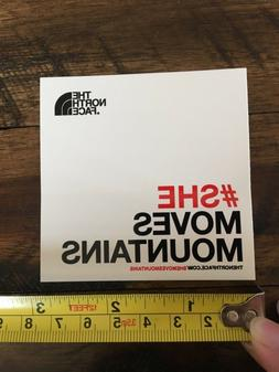 New large The North Face Sticker - #shemovesmountains