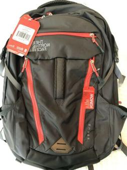 NEW NORTH FACE WOMENS SURGE BACKPACK GRAPHITE GREY / CAYENNE