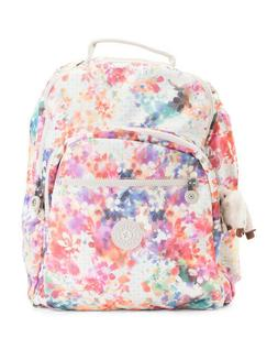 New Kipling Seoul Large Laptop Backpack Garden Happy Nwt