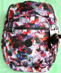 "NEW_Kipling Seoul Large Printed Nylon Backpack with 15"" Padd"