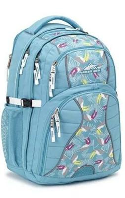 new swerve laptop backpack tropic teal toucan