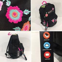 """-NEW- Jansport Trans Backpack 15"""" Laptop Sleeve Floral Flo"""