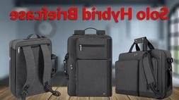 NEW Solo Urban Hybrid Laptop Briefcase/Backpack Gray