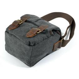new Vintage Canvas DSLR SLR Camera Bag Travel Shoulder Messe