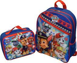 "Nickelodeon Boy PAW Patrol Set 15"" School Backpack & Insulat"