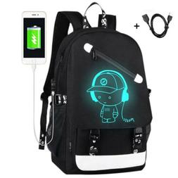 Night Luminous Backpack Anti-Theft Laptop Bag School Shoulde