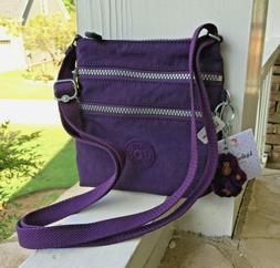 NWT KIPLING Alvar XS Crossbody Purse  - pomegrante purple