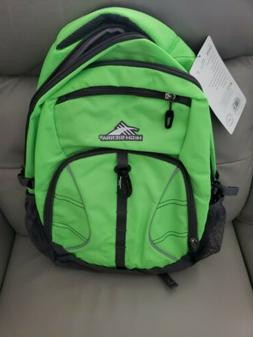 NWT High Sierra Envie Laptop Backpack Lime Green & Slate 38L