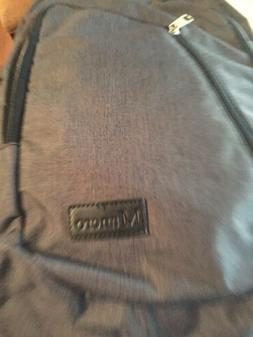 NWT New MANCRO Backpack Laptop USB Charging Port Polyester W