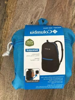 NWT Columbia Pocket Daypack Backpack Aqua, Greenish/ Blue