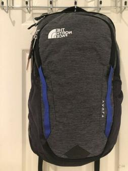 NWT The North Face Vault Heather Grey Blue Backpack Laptop S