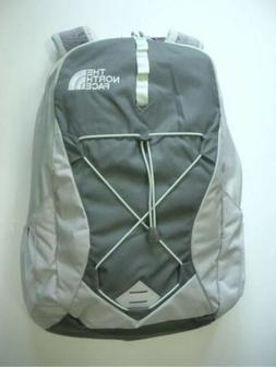 NWT The North Face Women Laptop Backpack Lunar Ice Grey / Se