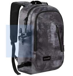"Mancro Nylon Business/Travel/School Laptop Backpack 15.6"" w/"