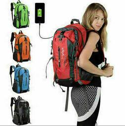 Nylon Travel Sports Shoulder Backpack Hiking Waterproof USB