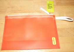 Clinique Orange Cosmetic Makeup Bag NEW Toiletry Travel Carr