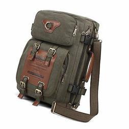 KAUKKO Outdoor Travel Men Backpack, Hiking Camping Canvas Ru