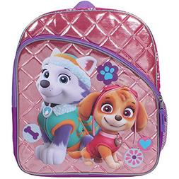 "Paw Patrol Skye and Everest 14"" Quilted Backpack with Side M"