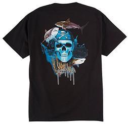 Guy Harvey Pirate Reef T-Shirt - Black - 2XL