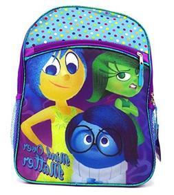"""Disney Pixar Inside Out 16"""" Large Canvas School Backpack Bag"""